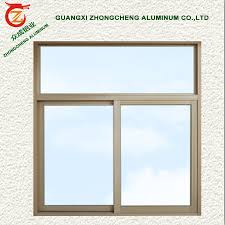 double glazing aluminum frame sliding large fixed glass window