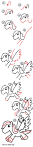 thanksgiving drawings step by step how to draw a cartoon pegasus art for kids hub