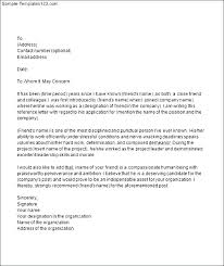 College Letter Of Recommendation From A Family Friend college recommendation letter for family friend