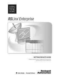 rslinxenterprise computer network installation computer programs
