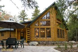 golden eagle log and timber homes log home cabin pictures exterior view 4