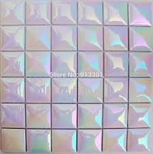 tile impressive iridescent tile for awesome kitchen backsplash