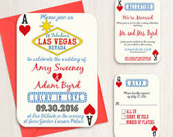 vegas wedding invitations las vegas wedding etsy