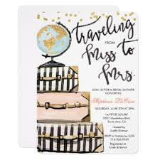 travel themed bridal shower miss to mrs bridal shower invitation zazzle