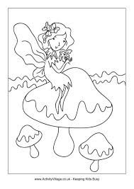 toadstool fairy colouring