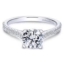 semi mount engagement rings gabriel co engagement rings white gold semi mount