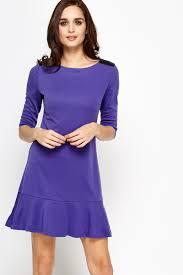 frill hem violet dress just 5