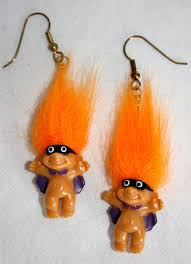 troll halloween bandit earrings happy halloween pinterest