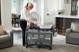 Playpen With Changing Table And Bassinet Graco Pack U0027n Play Quick Connect Portable Bouncer With Bassinet