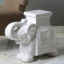 elephant end tables ceramic i want to find a home for this guy somewhere in my house ceramic