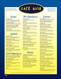 cafe sole restaurant menu key west u2013 best key west restaurant