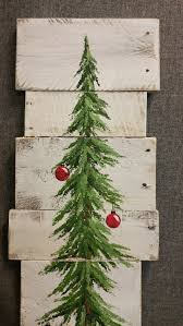 christmas tree sign white washed red bulbs 3 foot pine tree jodi