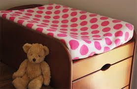 Changing Table Cover Polka Dot Pink Coral Fleece Change Table Covers Nursery
