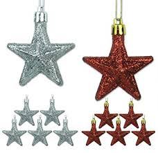 mini ornaments set of 12 and silver glittery