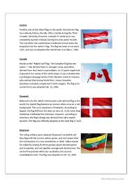 All The State Flags The Meaning Of Flags Worksheet Free Esl Printable Worksheets