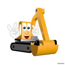 funny excavator cartoon comic illustration hands and eyes wall funny excavator cartoon comic illustration hands and eyes wall sticker
