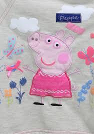 peppa pig heart print sweatshirt and jogger pant set