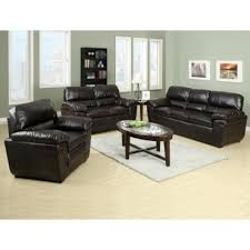 pillow arm leather sofa alda three pieces sofa set with pillow top arms by primo living