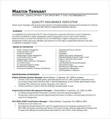 exle executive resume here are excel resume template quality assurance executive one page
