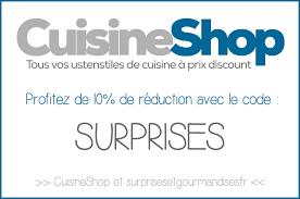 cuisine shop nouveau partenariat cuisineshop surprises et gourmandises