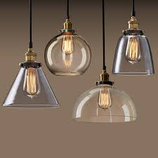 industrial style ceiling lights haixiang copper glass pendant lights retro loft industrial style