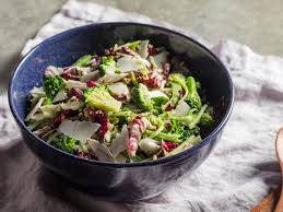 broccoli salad with radicchio basil and pistachios recipe
