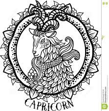 detailed capricorn in aztec style stock illustration image 76685189