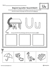 finding and connecting letters letter u worksheet
