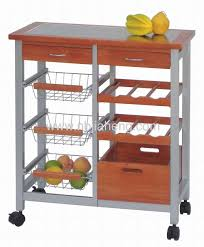 kitchen trolley designs eco friendly bamboo kitchen trolley with wine rack and one drawer