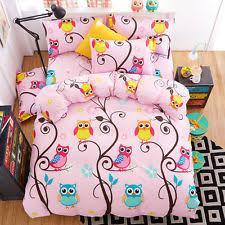 Quilted Duvet Cover King Owl Bed Set Ebay