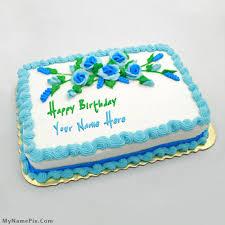 write name on birthday flowers cake happy birthday cake with name
