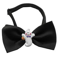 ghost halloween chipper dog bow tie with same day shipping baxterboo