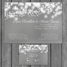 Reception Only Invitations Simple Wedding Invitation Modern Lights Engagement Party Invite