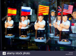 Miniature Flags Miniatures Of Men With Typical Catalan Suit Holding Flags From