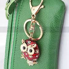 gift tree free shipping animal scarlet lovely owl charm keychains