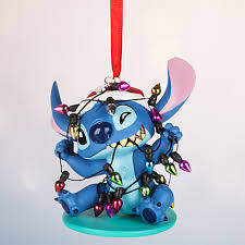 mele kalikimaka santa stitch is all tangled up in a string of