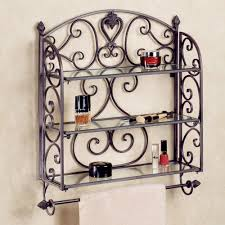 Black Bathroom Towel Bar Black Iron Aldabella Tuscany Slate Wall Shelf Towel Bar On White