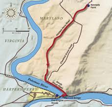 Potomac River On Map Map Of John Brown U0027s Raid On Harpers Ferry Civil War Trust