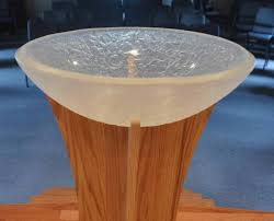 baptismal basin cast chunky clear baptismal font george c seattle wa