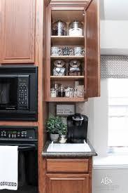 Kitchen Cupboard Organization Ideas Coffee Cabinet Organization Tips Free Printables