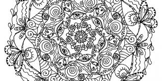 difficult mandala coloring pages funycoloring