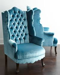 Blue Velvet Wingback Chair Haute House Peacock Velvet Wing Chair