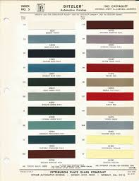 1965 chevrolet impala oem car paint colors