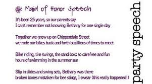 matron of honor poem unique of honor speech wedding tips and inspiration