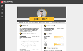 Best Resume Making Website Kickresume Create A Perfect Resume In Minutes And Land Your