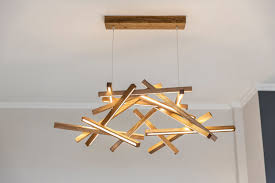 Wooden Chandelier Modern Led Wooden Chandelier Led L Wood L Modern Home