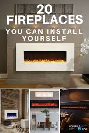 Modern Electric Fireplace 20 Modern Fireplaces That You Can Install Yourself Fireplaces