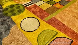 Modern Green Rugs by Kandinsky Colorful Composition Silk Modern Rug Wall Art Hand