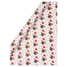 pug wrapping paper george home photographic pug gift wrap 5m asda groceries