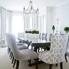 gray dining chairs transitional dining room lux decor dining